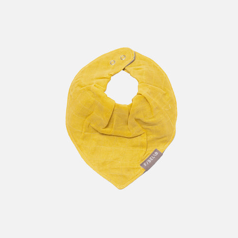 Organic Cotton Muslin Bandana Bib - Honey