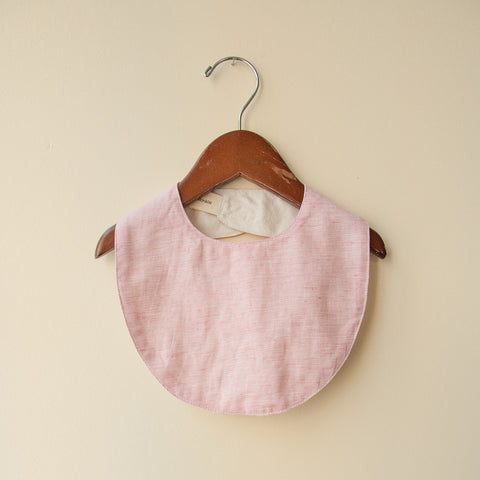 Cotton Reversible Bib - Heather Natural