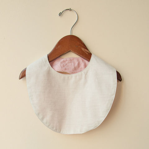 Cotton Reversible Bib - Heather/Natural