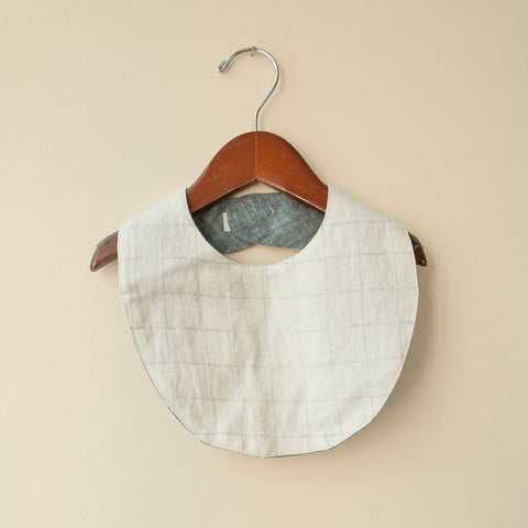 Cotton Reversible Bib - Windowpane