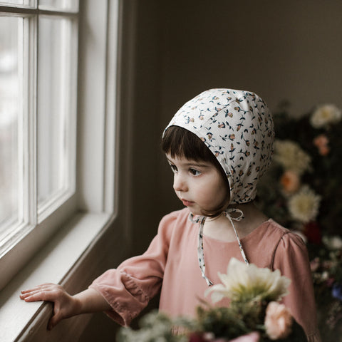 Cotton Liberty Bonnet - Rosa - 0m-4y
