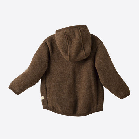 Organic Boiled Merino Jacket- Old Style - Hazelnut