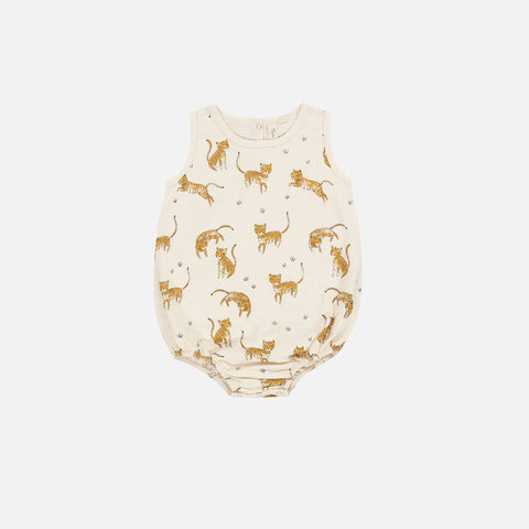Cotton Tiger Bubble Romper - Vanilla - 3-24m