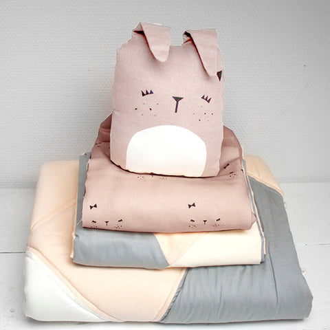 Organic Cotton Duvet & Cushion Cover - Bunny - Junior Size