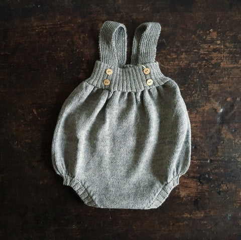 Alpaca Womble Romper - Light Grey - 0m-3y