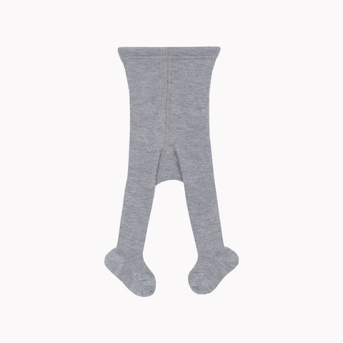 Fine Merino Wool/Cotton Kids Tights - Slate - 3-6y