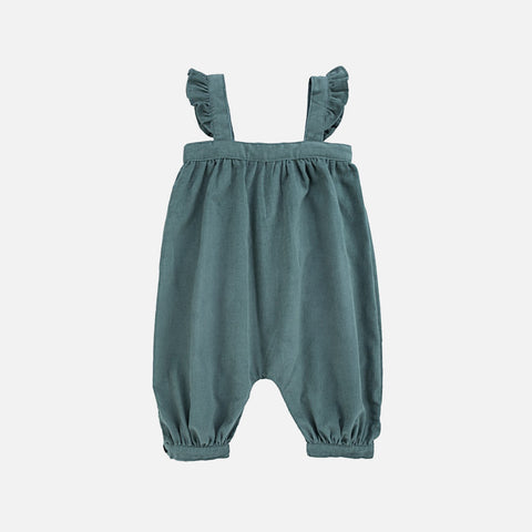 Cotton Charlotte Overall - Teal - 6m-2y