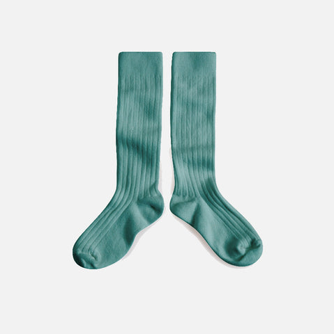 Adult Cotton Knee Socks - Teal - EU36-44/UK3.5-9
