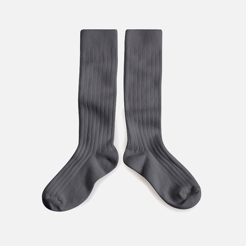 Babies & Kids Cotton Knee Socks - Thunder Grey - 1-12y