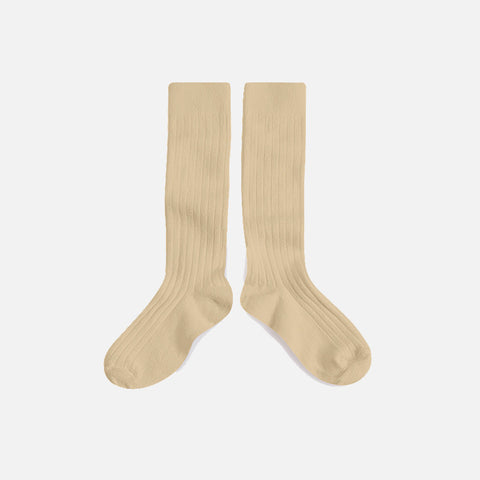 Babies & Kids Cotton Knee Socks - Dune - 1-12y