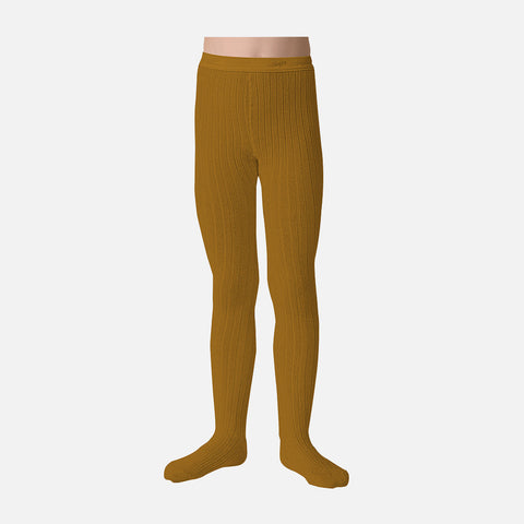 Babies & Kids Rib Tights - Mustard