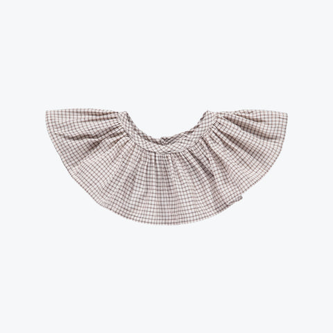 Organic Cotton Columbine Collar - Check - 5-10y