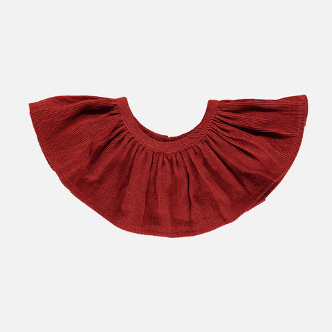 Organic Corduroy Columbine Collar - Deep Red - 1y-10y