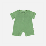 Organic Cotton Terry SS Romper - Jade Green - 3-24m