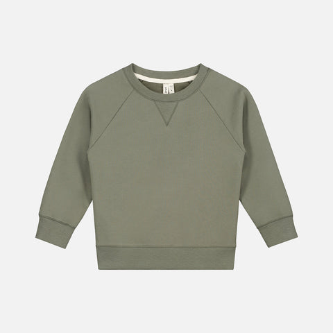 Organic Cotton Crewneck Sweater - Moss