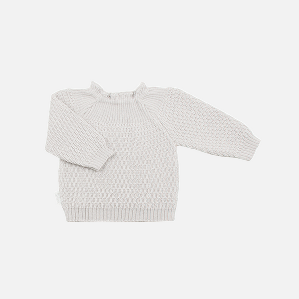 Selana Organic Merino Sweater - Cloud - 3m-2y