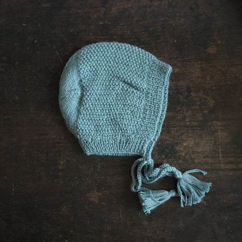 Hand Knitted Alpaca Esmeralda Bonnet - Many Colours - 6m-2y