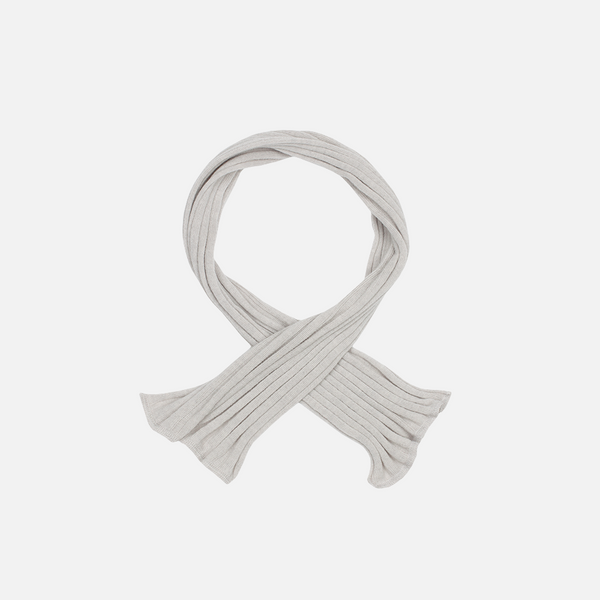Organic Rib Merino Scarf - Cloud - Big Kids