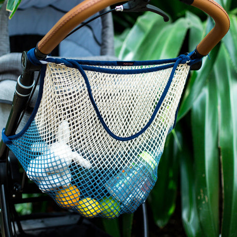 Cotton Stroller Net - Dip Dye Blue
