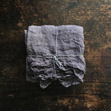 Organic 100% Linen Muslin Scarf - Natural Dyes - Warm Grey