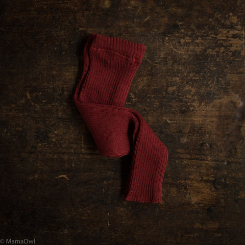 Organic Merino Wool Leggings/Trousers - Bordeaux