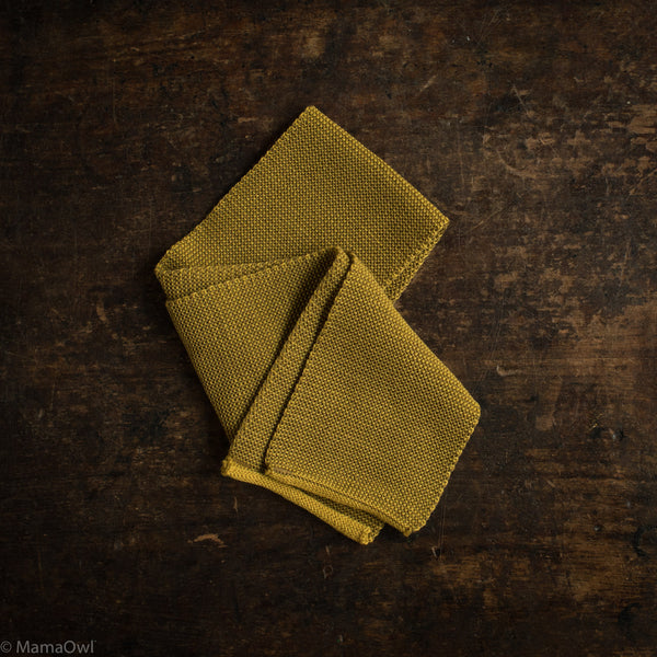 Organic Merino Scarf - Curry/Gold