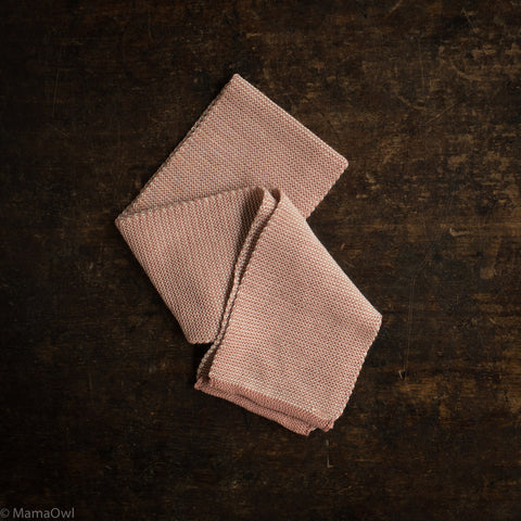Organic Merino Scarf - Rose/Natural