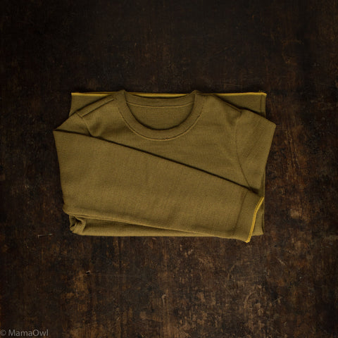 Merino Wool Knitted Jumper - Gold