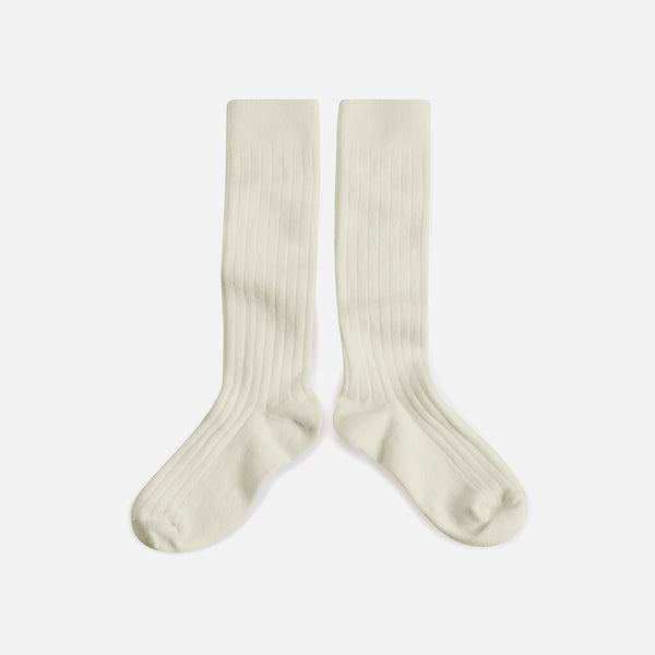 Babies & Kids Cotton Knee Socks - Cream - 1-12y