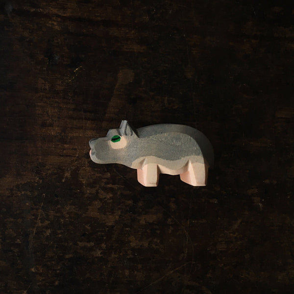 Handcrafted baby hippo