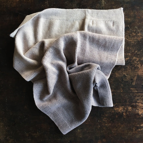 Merino wool baby blanket/swaddle - natural dyes - Warm Grey
