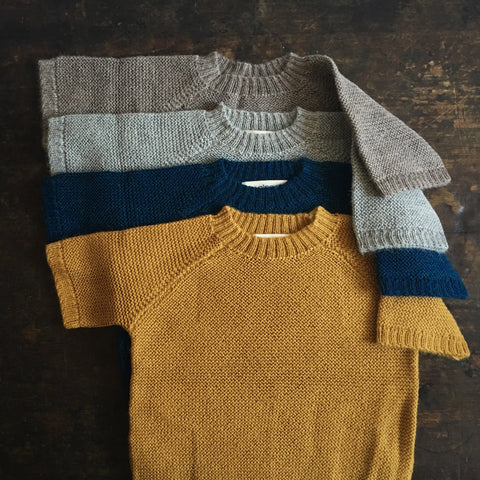 Hand Loomed Alpaca Sweater Lise - Oatmeal, Grey, Petrol or Mustard - 2-6y