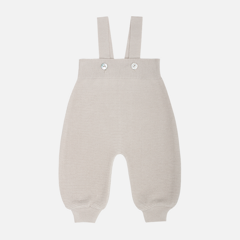 Organic Cotton Baby Dungarees - Dune - 0-2y