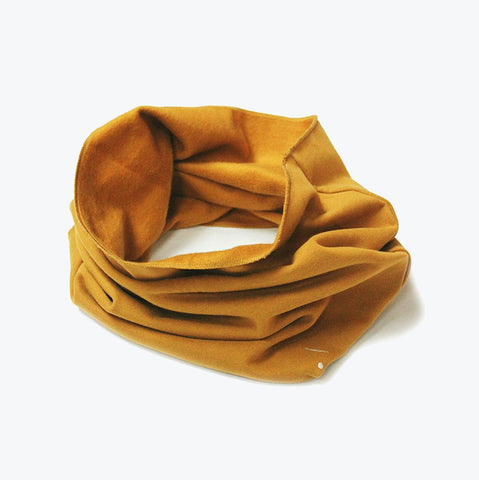 Organic Endless Scarf - Mustard - One Size