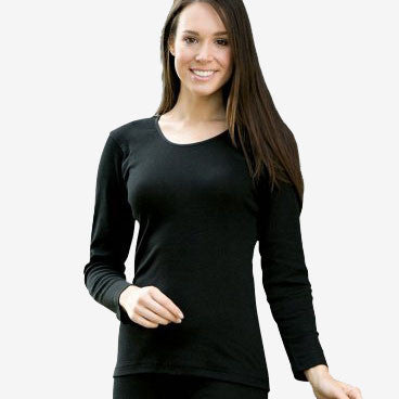 Organic Silk & Merino Wool Women's Top/Vest - Black or Natural