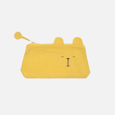 Organic Cotton Pencil Case - Lazy Bear