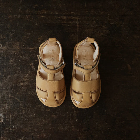 Eco Leather Baby Sandals - Natural - 17