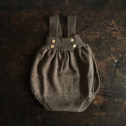 Alpaca Tomatillo Romper - Brown - 0m-3y