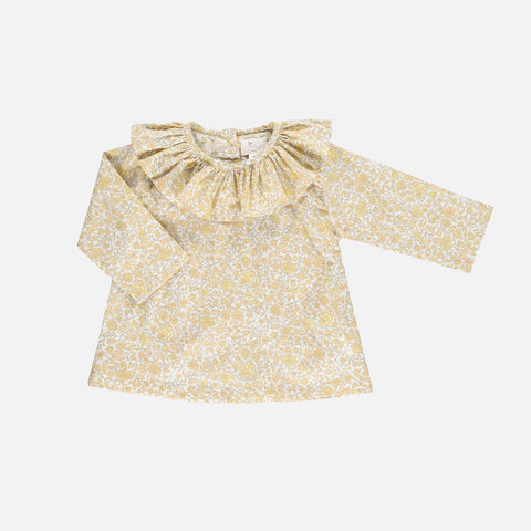 Organic Cotton Fernanda Shirt - Mustard Flower - 4-10y