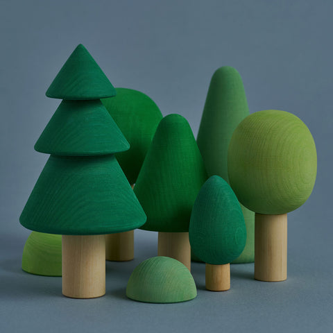 Wooden Russian Forest Set