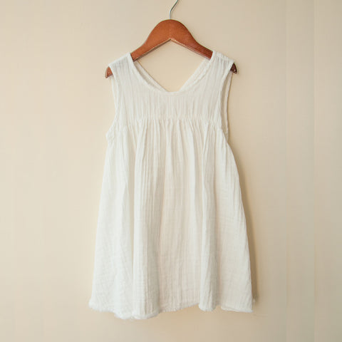 Cotton Frankie Dress - White - 2-8y