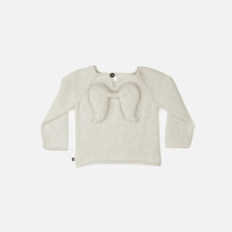 Alpaca Angel Sweater - White - 0-12m