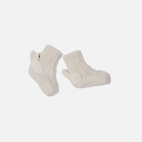 Alpaca Angel Booties - White - 0-12m