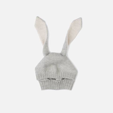 Alpaca Rabbit hat - Grey - 4-6y