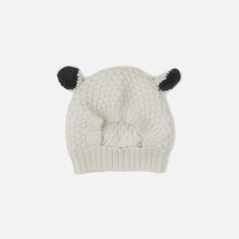 Alpaca Sheep hat - White - 12m-6y