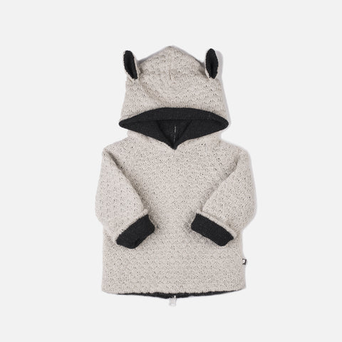 Alpaca Double Layer Sheep Hoodie - 12-18m