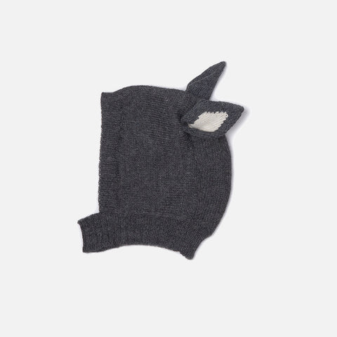 Alpaca Cat hat - Dark Grey - 12-18m