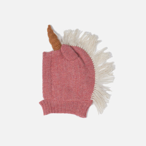 Alpaca Unicorn hat - Rose - 0m-4y