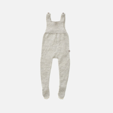 Alpaca Footed Romper - Grey Bunny - 0-12m