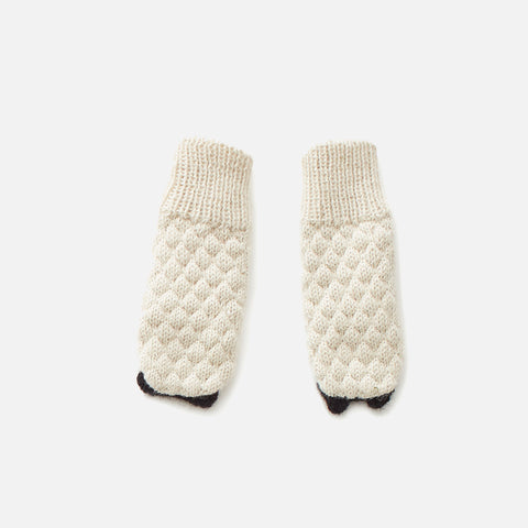Alpaca Mittens - Sheep - 6m-6y